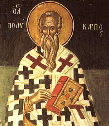 Sfantul Mucenic Policarp episcopul Smirnei
